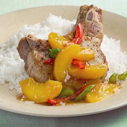 Peachy Pepper Skillet Pork Chops
