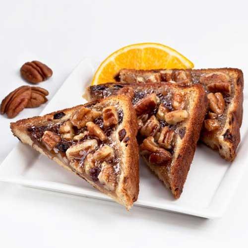 Raisin Pecan Sticky Toasts