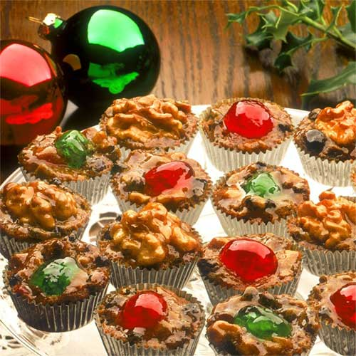 Jeweled Fruitcake Cups