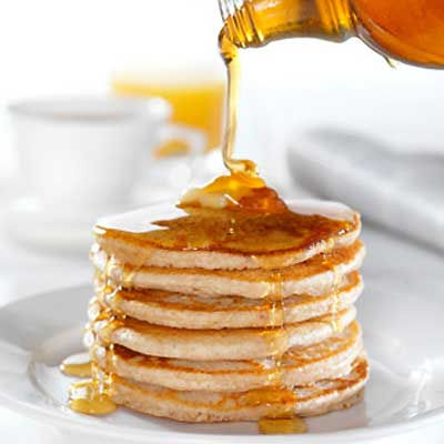 Orange Pancakes with Tropical Citrus Sauce