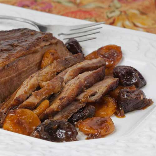 Beef Brisket with Prunes and Apricots