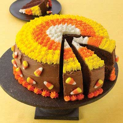 Candy Corn Chocolate Cake