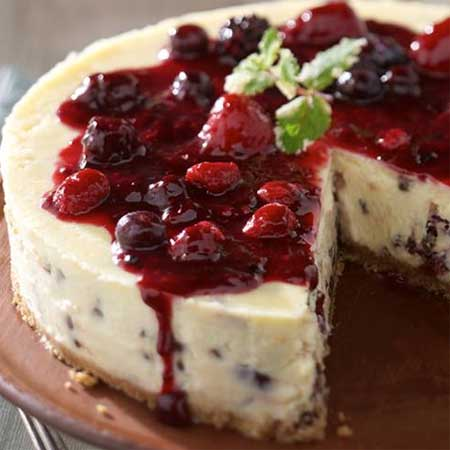 Cheesecake with Cherry Craisins and Chocolate
