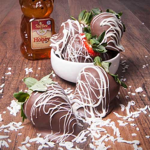 Honey Chocolate-Covered Strawberries