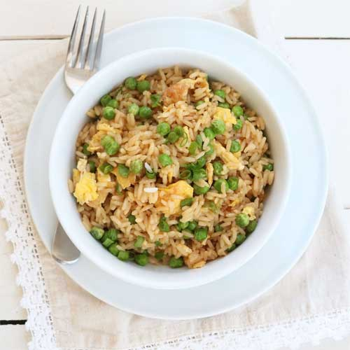 Quick and Easy Vegetarian Fried Rice
