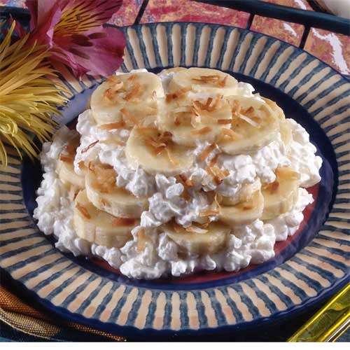 Tropical Banana Rice Pudding