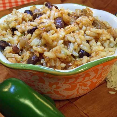 Steak & Black Bean Chili with Jalapeno Rice