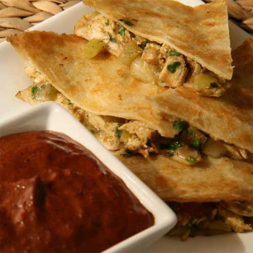 Grilled Spicy Chicken & Apple Quesadillas