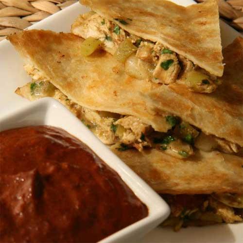 Grilled Spicy Chicken & Apple Quesadillas