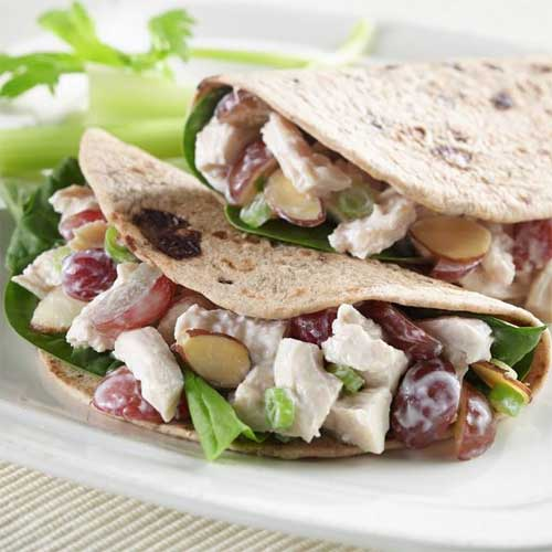 Chicken and Grape Tortilla Sandwiches