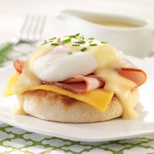 Cheesy Eggs Benedict