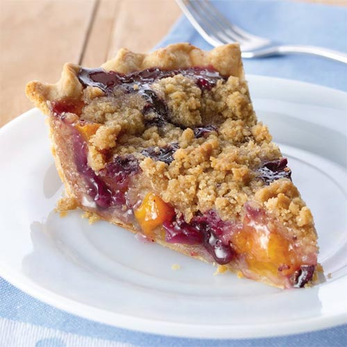 Peach Blueberry Streusel Pie