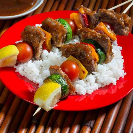 Sweet Garlic Beef Kabobs