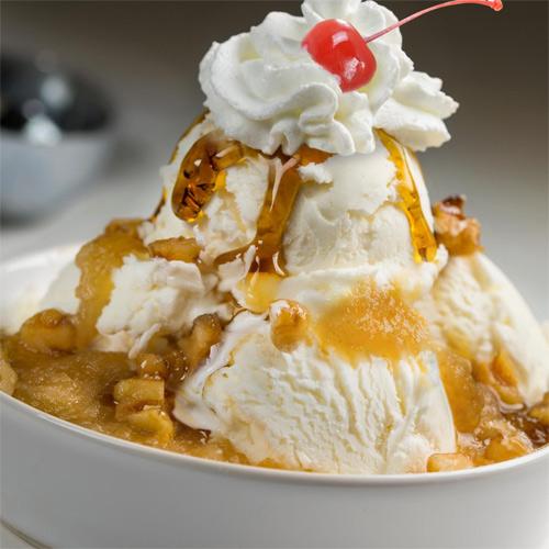 Warm Apple Pie Sundae