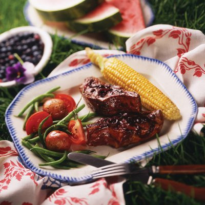 Barbecued Ribs with Blueberry Sauce