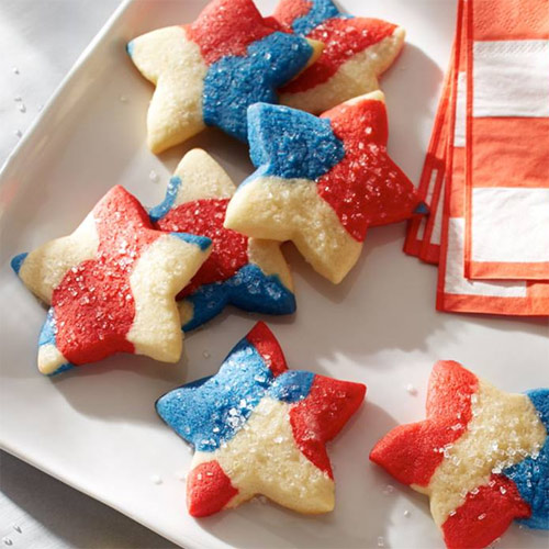 Red, White & Blue Tie-Dyed Cookies