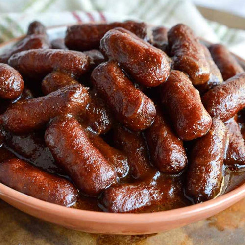 Slow Cooker Sweet Apple BBQ Sausage Smokies