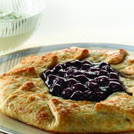 Blueberry Galette with Lime Mascarpone Cream