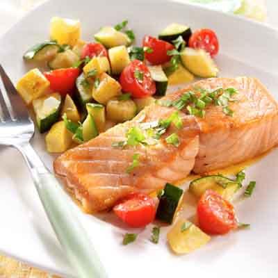 Salmon & Summer Squash with Basil