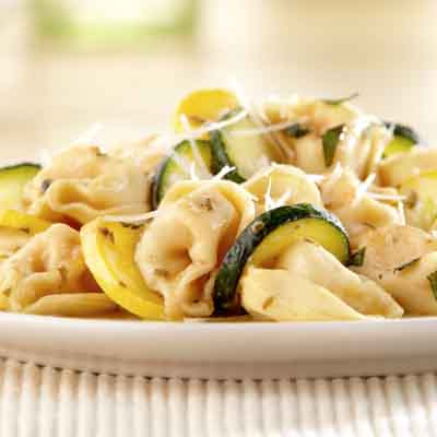 Three Cheese Tortellini with Summer Squash & Fresh Basil