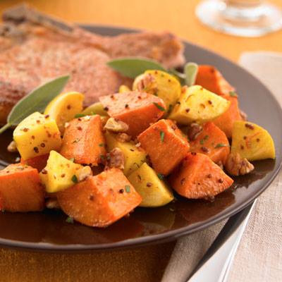 Spicy Sweet Potatoes & Apples