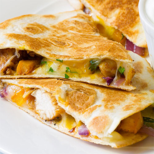 Sweet & Tangy Chicken Quesadillas