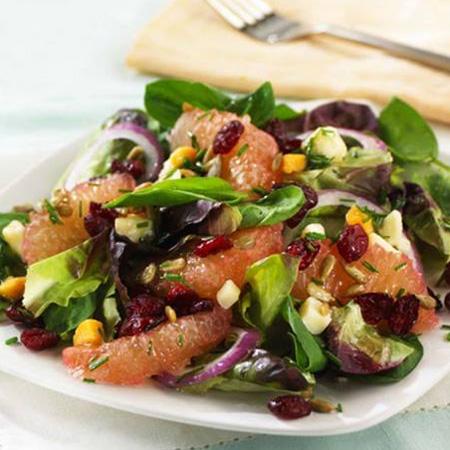 Cranberry Citrus Salad with Sunflower Seeds