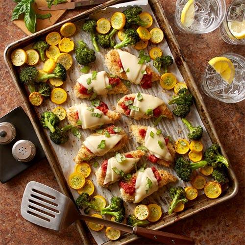 Chicken Parmesan Sheet Pan Dinner