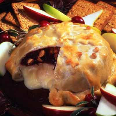 Baked Cranberry Almond Brie