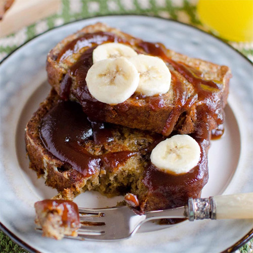 Apple Butter Banana Bread French Toast