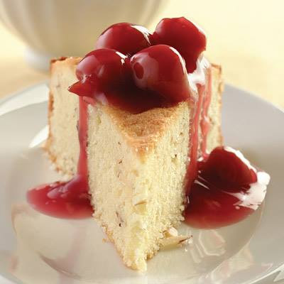 Almond Cake with Sour Cherry Sauce