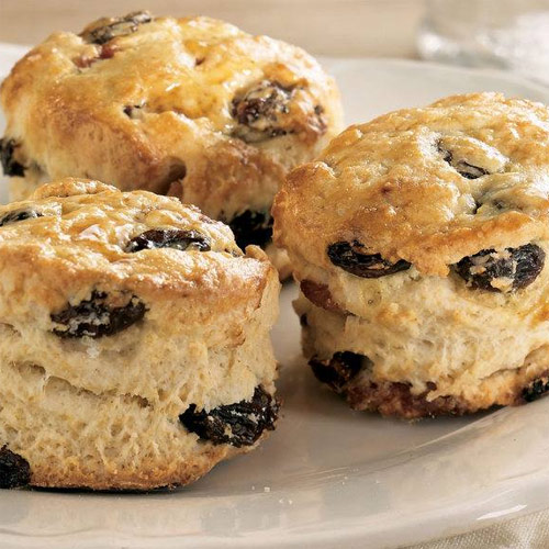 Raisin, Maple and Bacon Biscuits