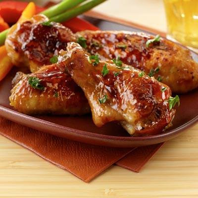 Sticky Balsamic Honey-Glazed Wings