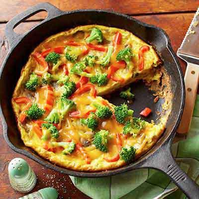 Broccoli & Mushroom Frittata