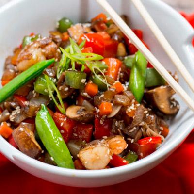 Honey Shrimp Stir-Fry