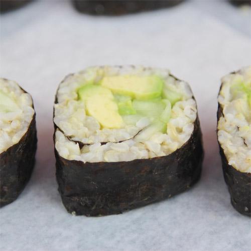 Avocado Cucumber Brown Rice Sushi