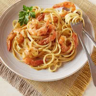 White Wine Garlic Shrimp Linguine