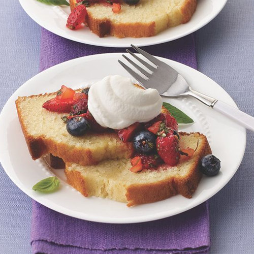 Butter Cake with Mixed Berry Salsa