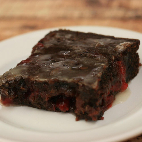 Cherry & Chocolate Lava Brownies