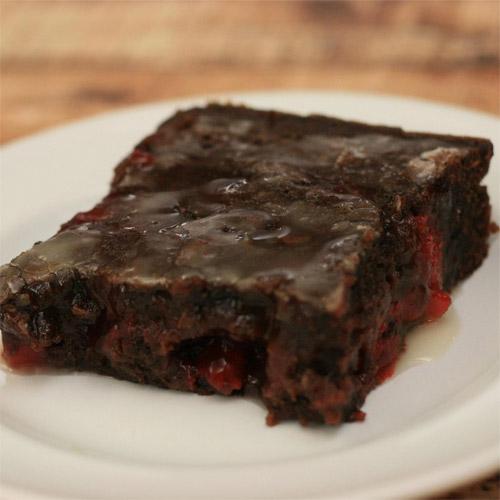 Cherry & Chocolate Lava Brownies