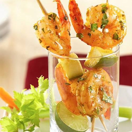 Chili-Lime Shrimp Skewers