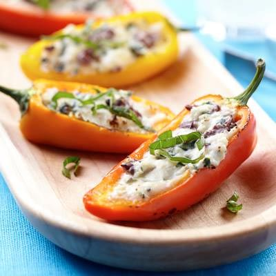 Mediterranean Stuffed Sweet Peppers
