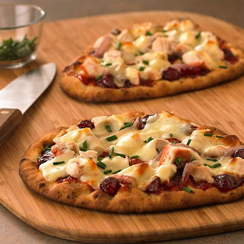 BBQ Turkey Flatbread Pizza