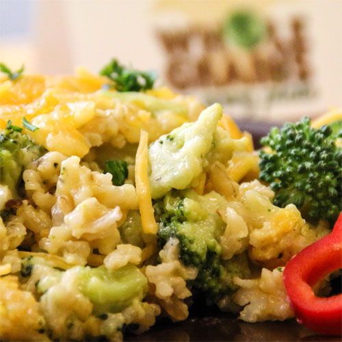 Cheesy Broccoli and Brown Rice