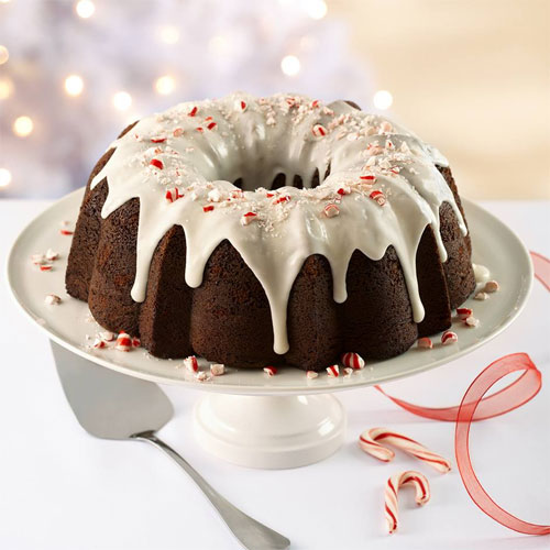 Fudgy Peppermint Cake