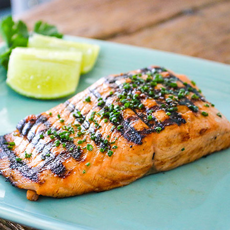 Jalapeno Honey Lime Grilled Salmon