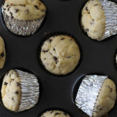 Brown Rice Chocolate Chip Blender Muffins
