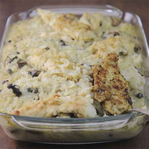 Baked Chicken Marsala and Rice Casserole