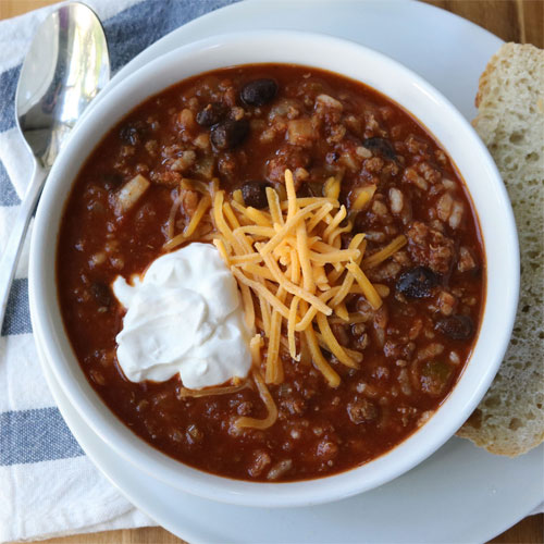 Smoky Beef and Rice Chili