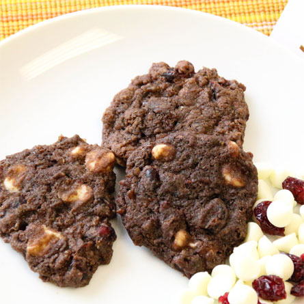 Chocolate Brown Rice Cookies